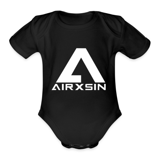 AIRXSIN Logo T - Organic Short Sleeve Baby Bodysuit
