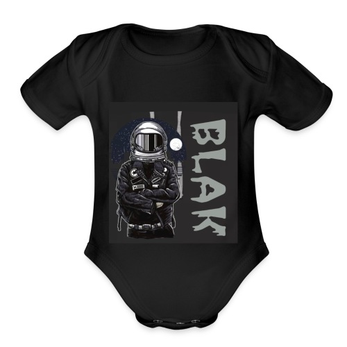 BLAK space bound - Organic Short Sleeve Baby Bodysuit