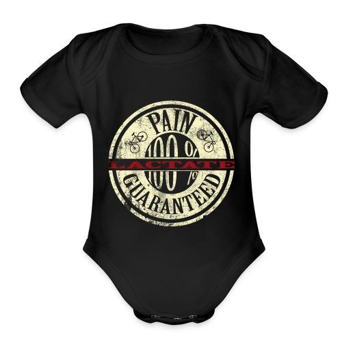 Lactate1grungebeige - Organic Short Sleeve Baby Bodysuit