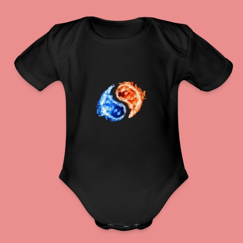 fire and ice - Organic Short Sleeve Baby Bodysuit