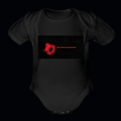 Red String Recording - Organic Short Sleeve Baby Bodysuit