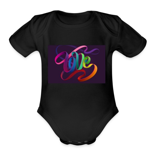 Love swirls - Organic Short Sleeve Baby Bodysuit