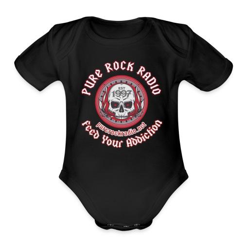 PUREROCKRADIO darkback radioflag PNG png - Organic Short Sleeve Baby Bodysuit