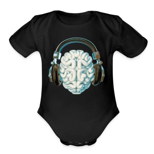 Mind Music Connection - Organic Short Sleeve Baby Bodysuit