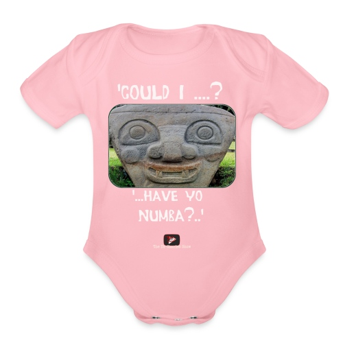 Alien Could I have your Number - Organic Short Sleeve Baby Bodysuit