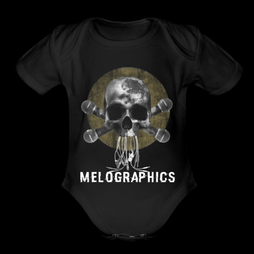 No Music Is Death - Organic Short Sleeve Baby Bodysuit