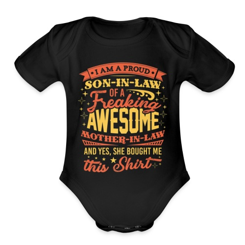 Mens T Shirt Gift For Future Son In Law On Wedding - Organic Short Sleeve Baby Bodysuit