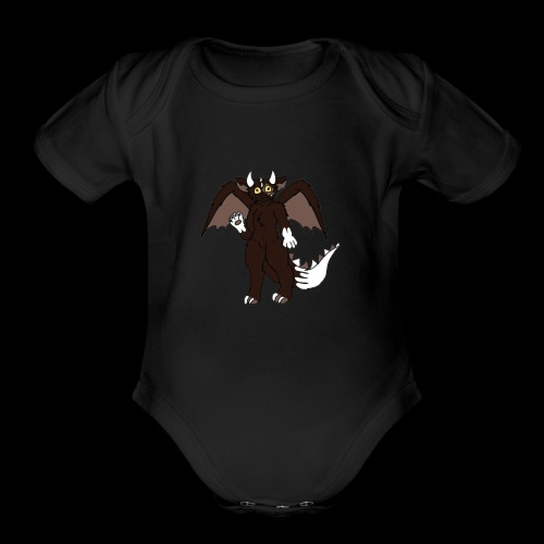 Maxie's Dragon Logo - Organic Short Sleeve Baby Bodysuit