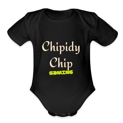 Chipidy Chip Gaming! - Organic Short Sleeve Baby Bodysuit