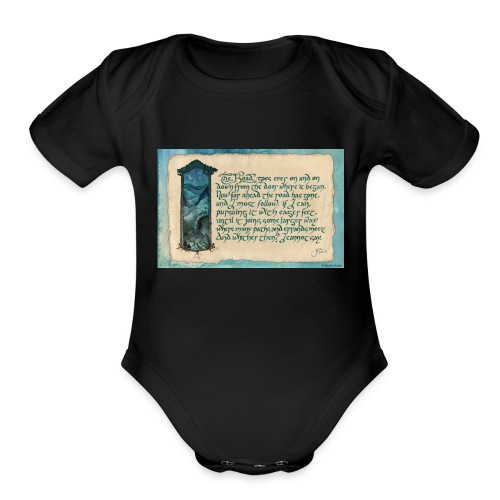 A Parkie's Tale-The Road Goes Ever On - Organic Short Sleeve Baby Bodysuit