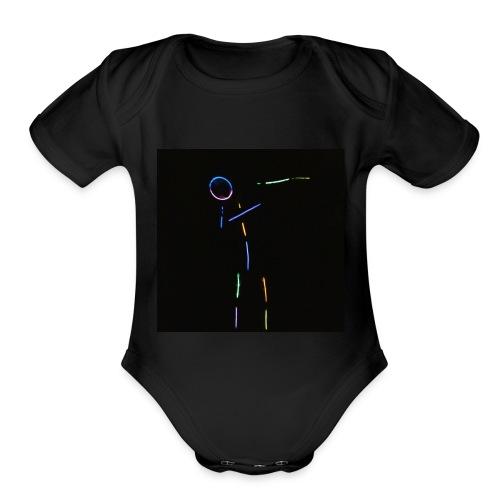 Just dab - Organic Short Sleeve Baby Bodysuit