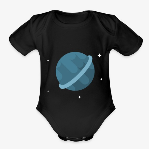 Tiny Blue Planet - Organic Short Sleeve Baby Bodysuit