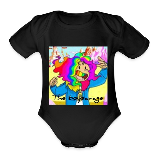 Theboysavage hoodie1 - Organic Short Sleeve Baby Bodysuit