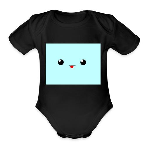 blob shirt - Organic Short Sleeve Baby Bodysuit