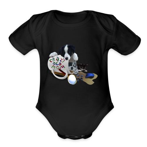 CrazyOldMom Twitch Logo - Organic Short Sleeve Baby Bodysuit