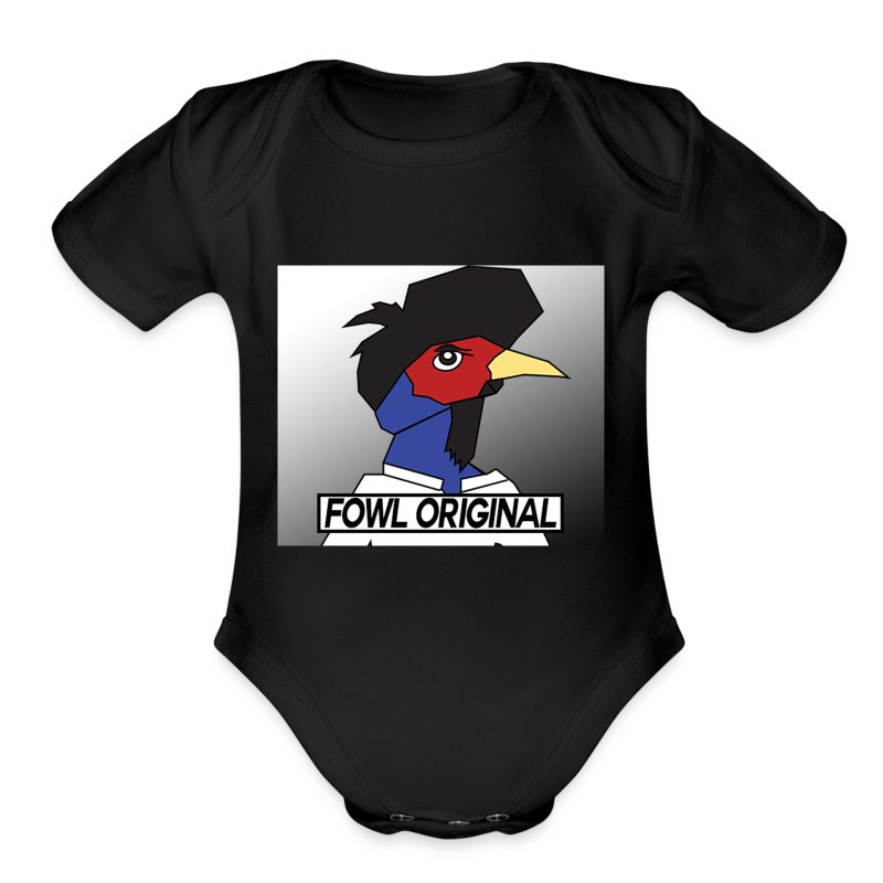 Fowl Original Logo - Short Sleeve Baby Bodysuit