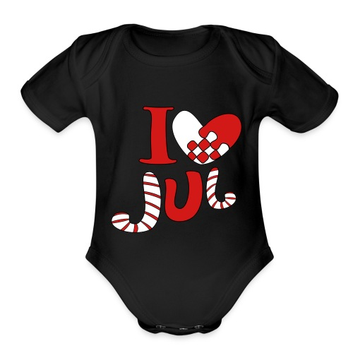 i love jul - Organic Short Sleeve Baby Bodysuit