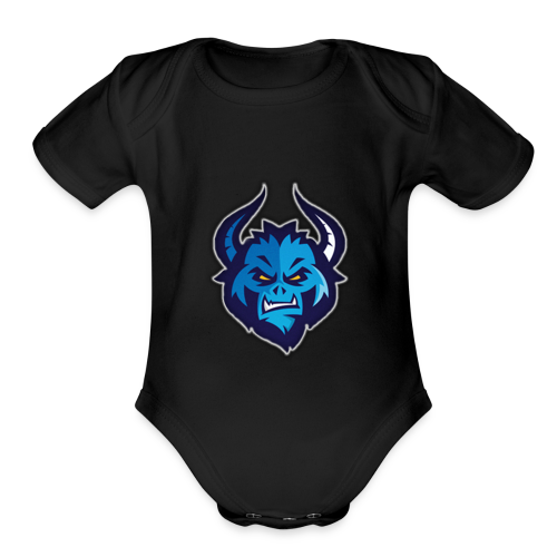 RarestUsername's Logo - Organic Short Sleeve Baby Bodysuit