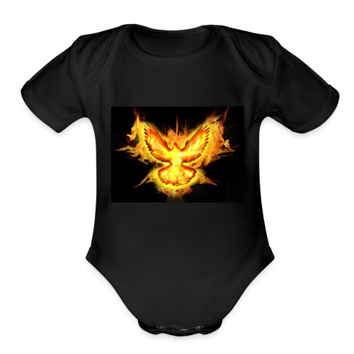 fire blaze cup - Organic Short Sleeve Baby Bodysuit