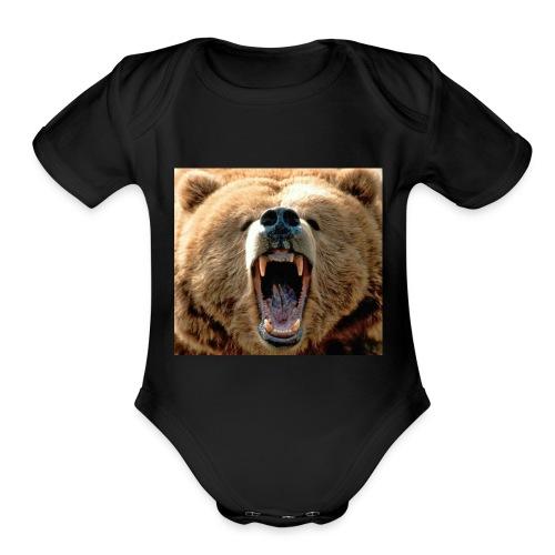 fLaRe BeArZ custom shirt (me - Organic Short Sleeve Baby Bodysuit