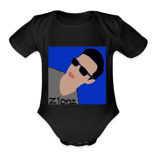 Zionz_Cartoon - Organic Short Sleeve Baby Bodysuit