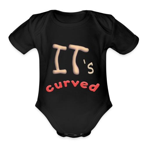 Curved - Organic Short Sleeve Baby Bodysuit