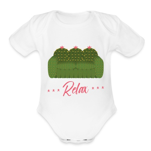Relax! - Organic Short Sleeve Baby Bodysuit