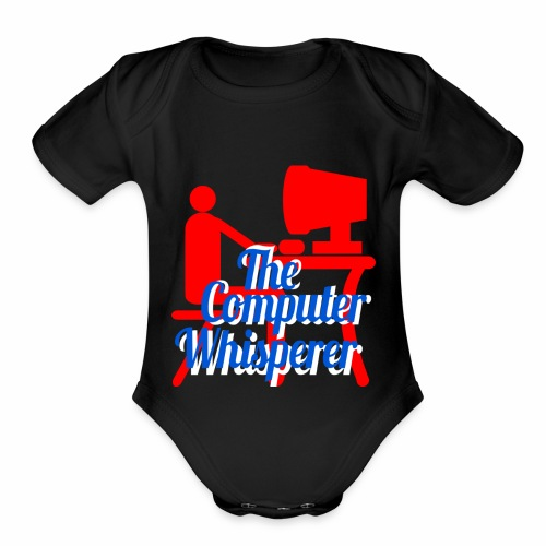 The Computer Whisperer - Organic Short Sleeve Baby Bodysuit