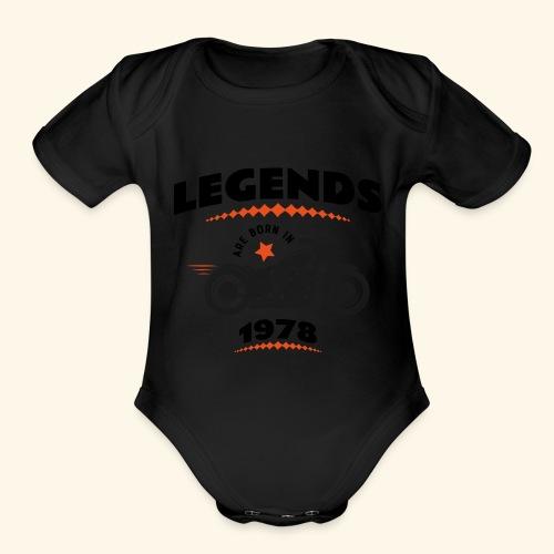 1978 - Organic Short Sleeve Baby Bodysuit