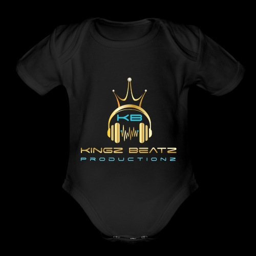 Official Kingz Beatz Productionz LLC Logo - Organic Short Sleeve Baby Bodysuit