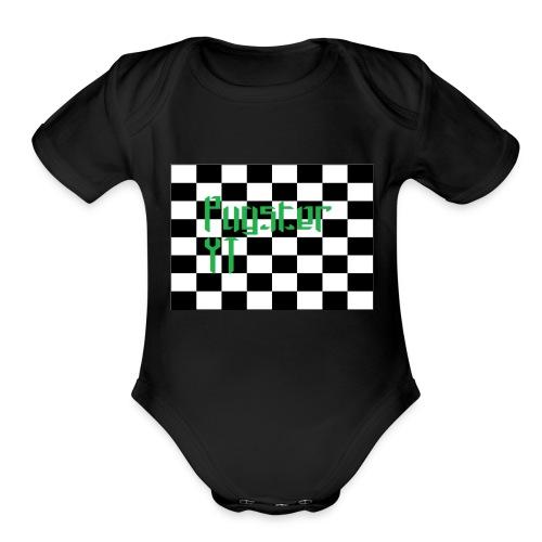 Checkers Pug - Organic Short Sleeve Baby Bodysuit