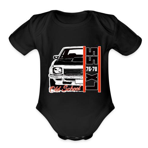 LX SS - Organic Short Sleeve Baby Bodysuit