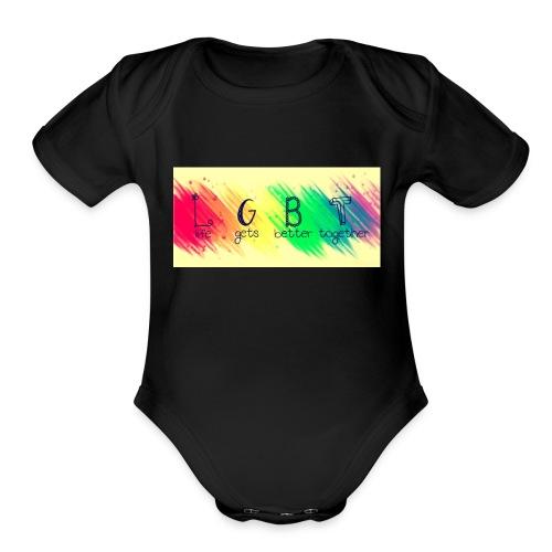 LGBTQ+ - Organic Short Sleeve Baby Bodysuit