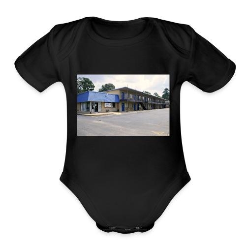 The Blue Door Motel - Organic Short Sleeve Baby Bodysuit