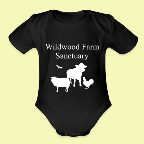 A2 black text2path - Organic Short Sleeve Baby Bodysuit
