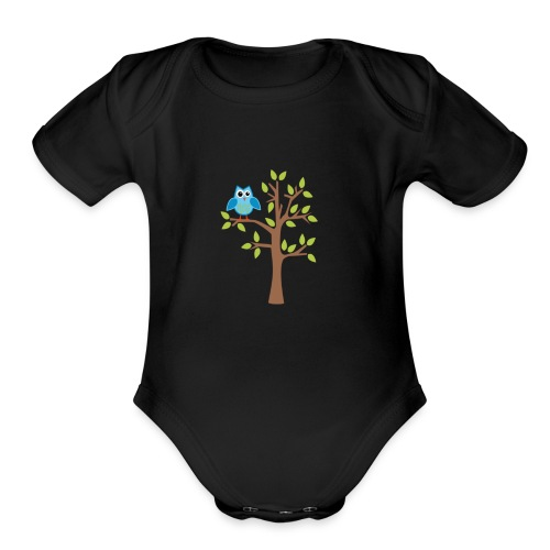 good morning kids - Organic Short Sleeve Baby Bodysuit