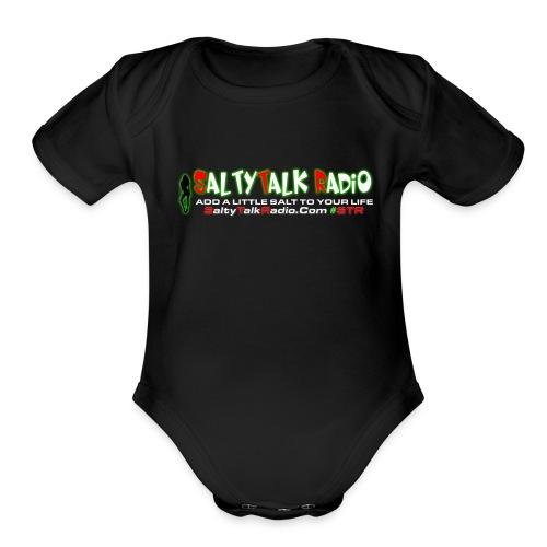 str front png - Organic Short Sleeve Baby Bodysuit