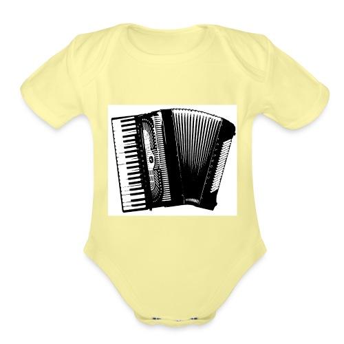 Accordian - Organic Short Sleeve Baby Bodysuit