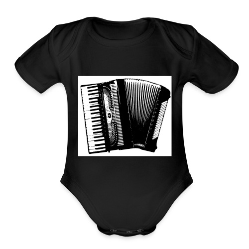 Accordian - Organic Short Sleeve Baby Bodysuit