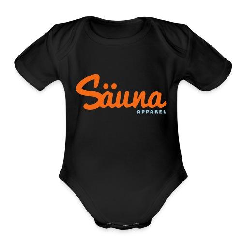 Säuna Apparel logo - Organic Short Sleeve Baby Bodysuit