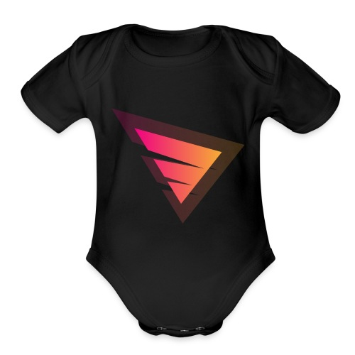 Logo IteX with another background logo - Organic Short Sleeve Baby Bodysuit