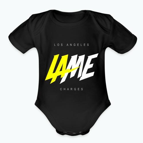 lame - Organic Short Sleeve Baby Bodysuit