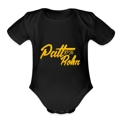 Patt Rohn 2036 Golden - Organic Short Sleeve Baby Bodysuit