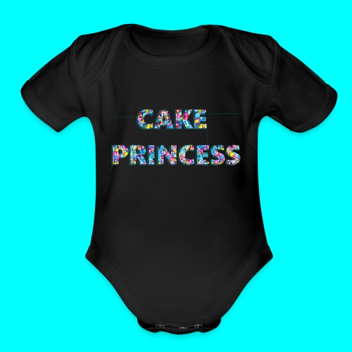 cake princess - Organic Short Sleeve Baby Bodysuit