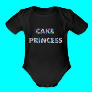 cake princess - Short Sleeve Baby Bodysuit