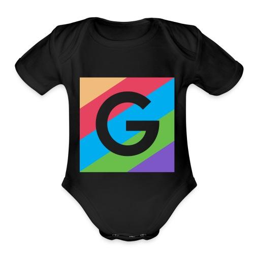 Goodnet Logo Square - Organic Short Sleeve Baby Bodysuit