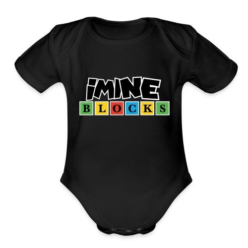 iMine Blocks 2 - Organic Short Sleeve Baby Bodysuit