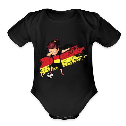 Germany flag t shirt - Organic Short Sleeve Baby Bodysuit