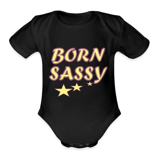 Born Sassy - Organic Short Sleeve Baby Bodysuit