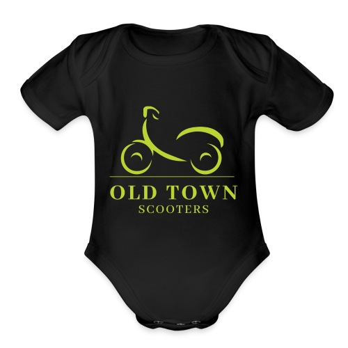 Old Town Scooters T-shirt - Organic Short Sleeve Baby Bodysuit